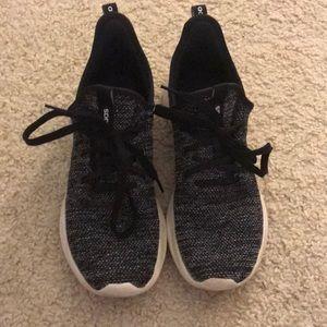 Black cloudfoam adidas tennis shoes women's size 9